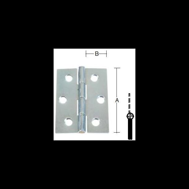 Elgalvaniseret kanthængsel fast tap 102 mm