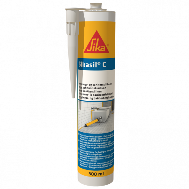 Sikasil-C sort 300 ml