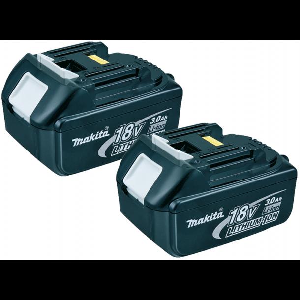 Makita batterier 2 stk. 3Ah 18V Li-Ion