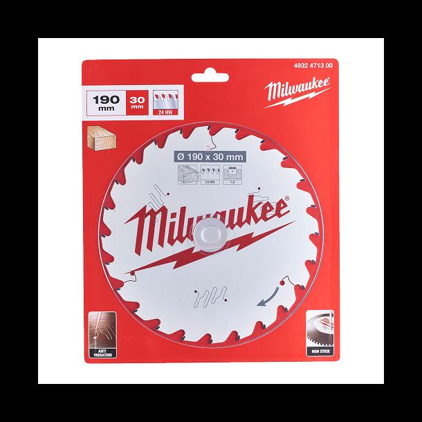 Milwaukee hm klinge 190x30 mm 24 tands
