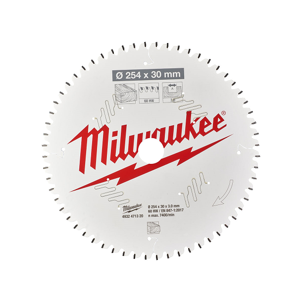 Milwaukee hm klinge254x30 mm 60 tands