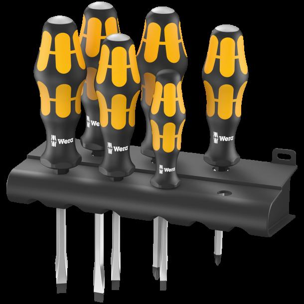 Wera Kraftform gul skruetrækkersæt (932/918/6)
