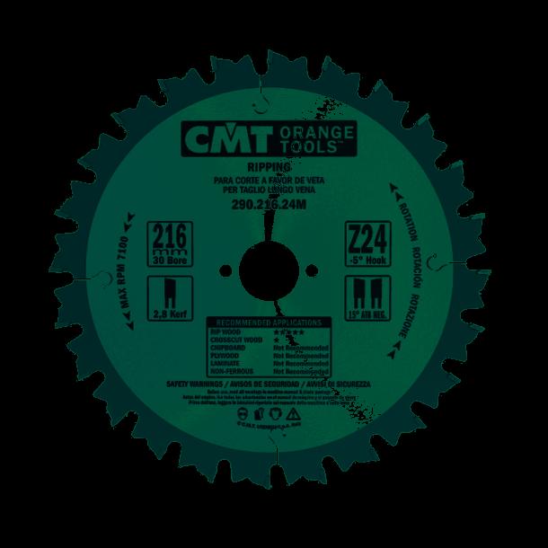 Cmt hm universal rundsavklinge 216x30 mm td 24