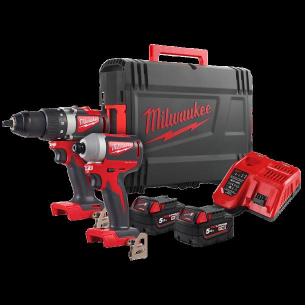 Milwaukee powerpack BLDD2+BLID (M18BLPP2B2-502X)