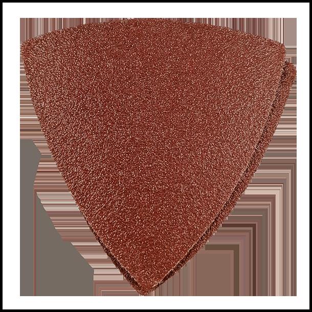 Slibepapir trekantet 80 mm Korn 40