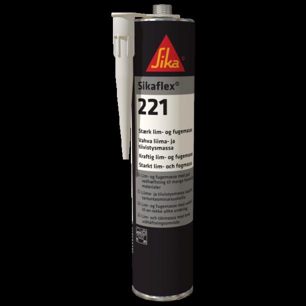 Sikaflex 221 Lim/fugemasse grå 300 ml pt