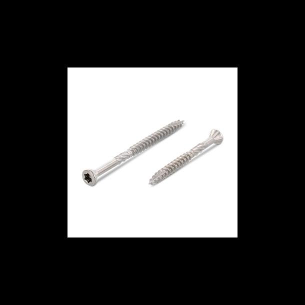Rustfri A4 glaslisteskrue linsehoved 3,2x25mm