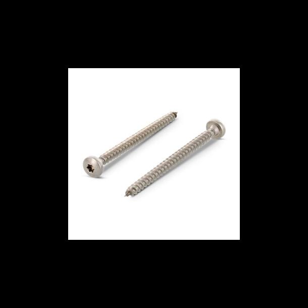 Rustfri A2 skruer rundhoved 5,0x30 TX25