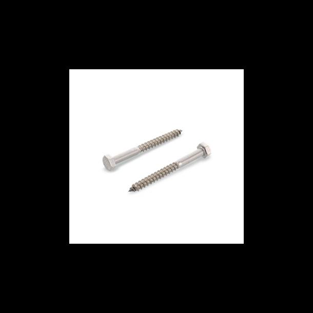 Rustfri og syrefaste franske skruer 10 X 100 mm